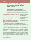 Научная статья на тему 'A statistical analysis of competitive research contracting in the field of life sciences'
