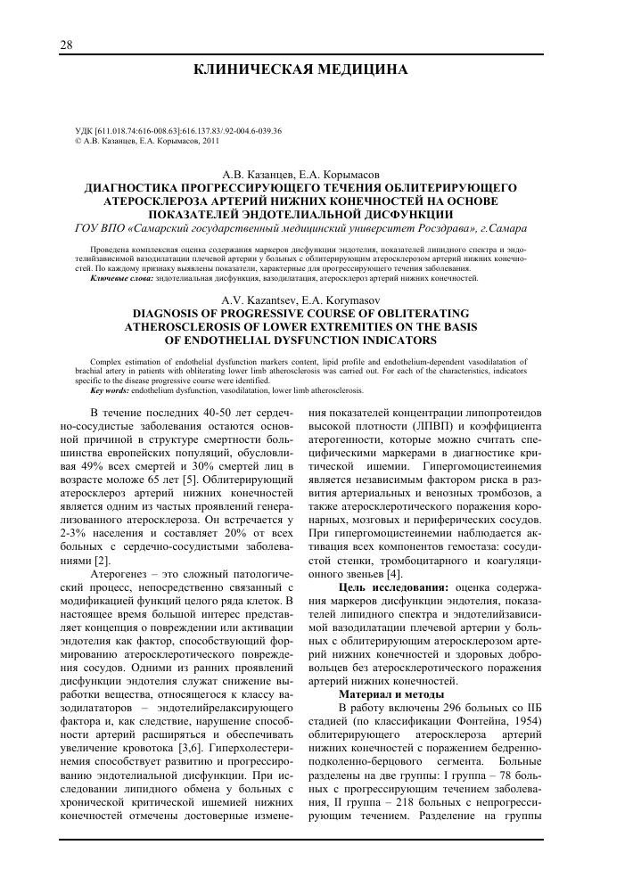 Диагностика атеросклероза сосудов — методы обследования