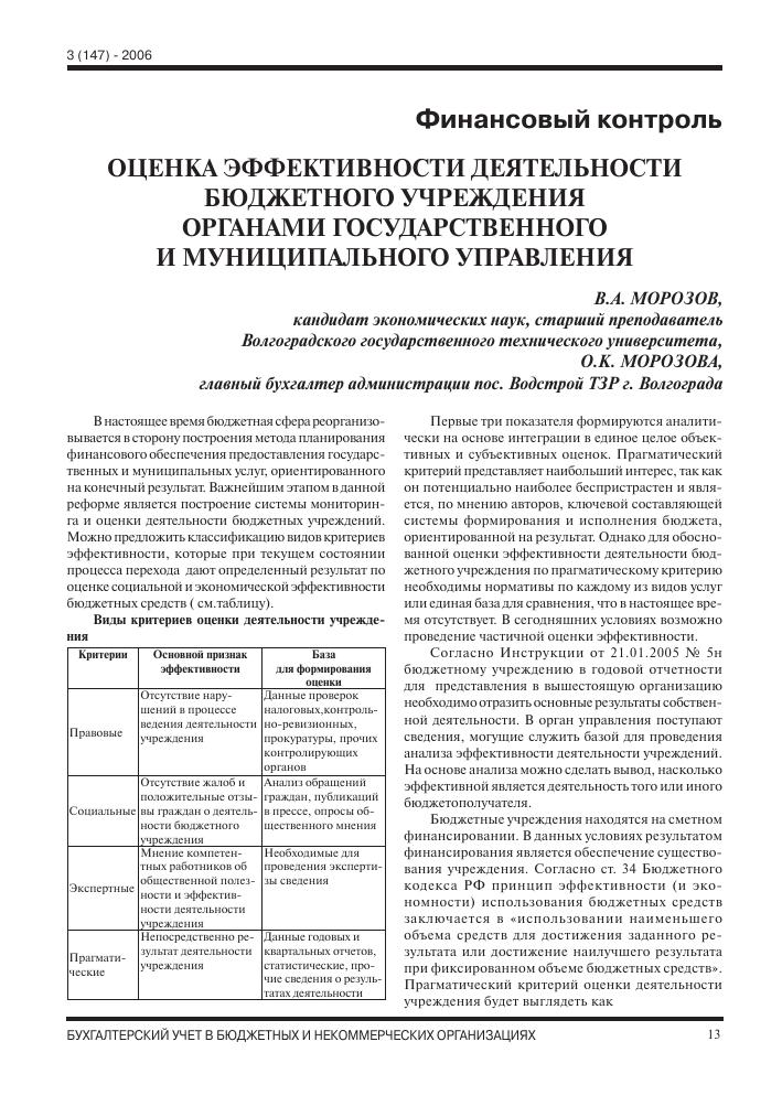Критерии эффективности оценки деятельности бухгалтерии смена директора и электронная отчетность