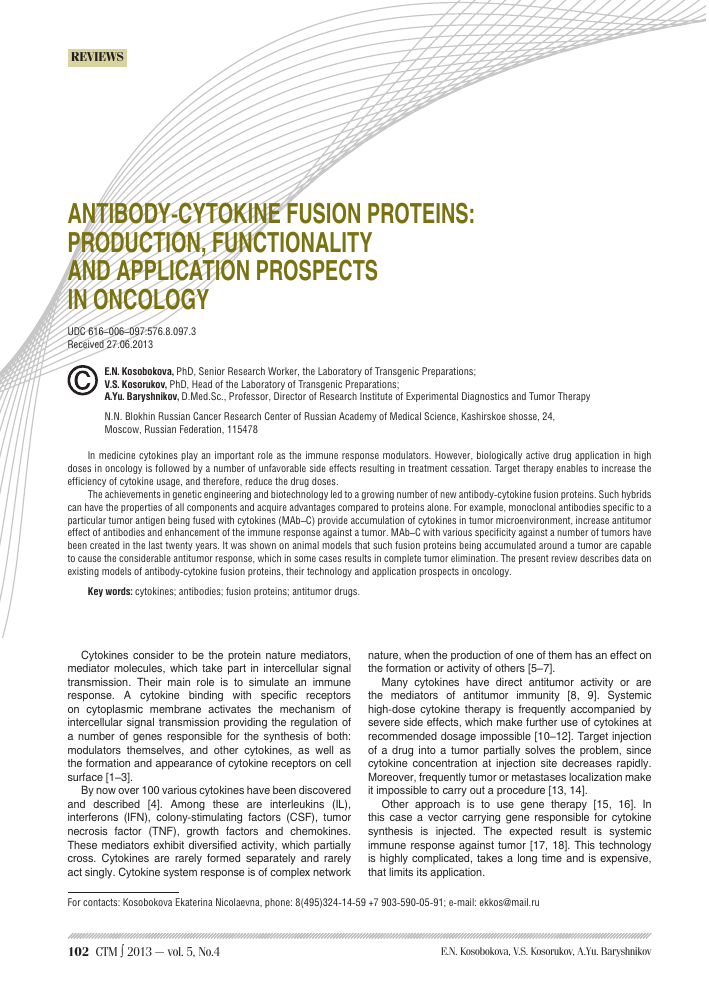 Antibody-cytokine fusion proteins: production, functionality and ...