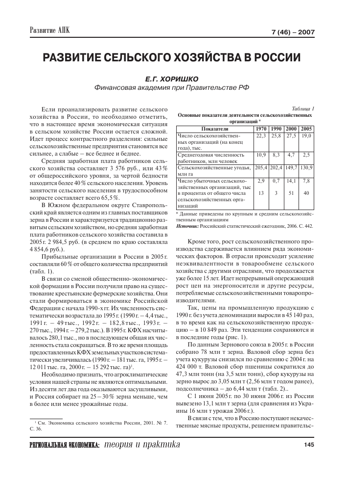 Доклад на тему развитие сельского хозяйства 8983