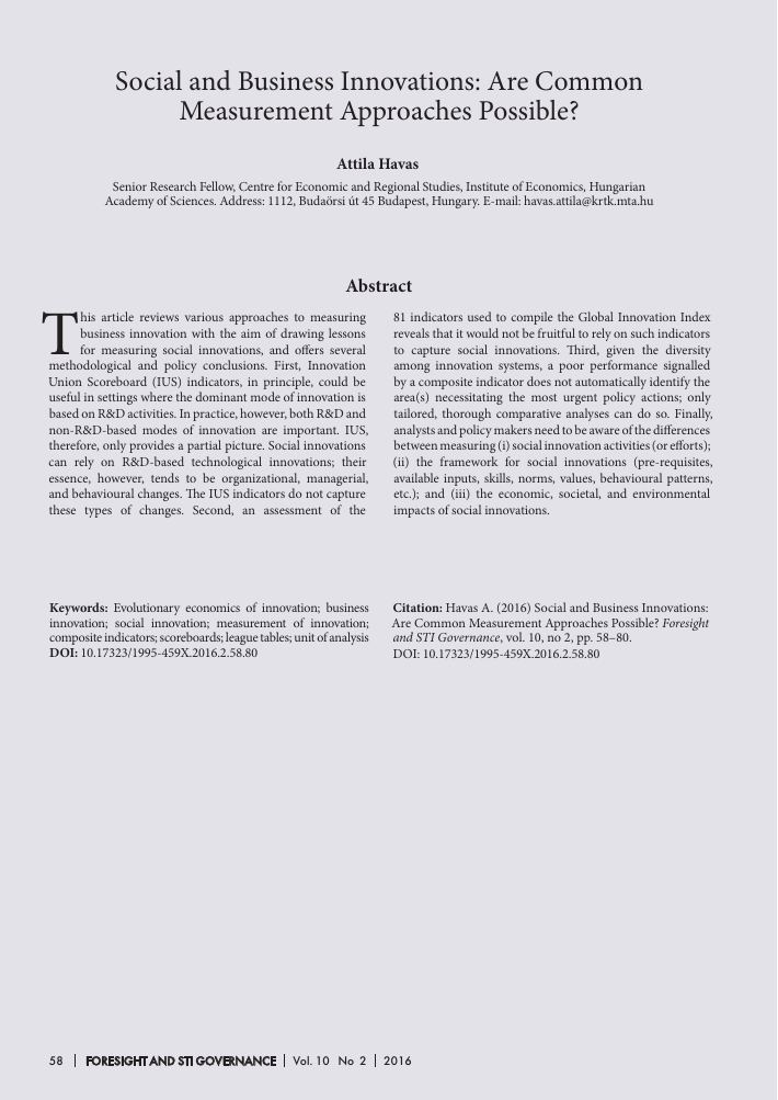 c09955453cd Social and Business Innovations  Are Common Measurement Approaches ...