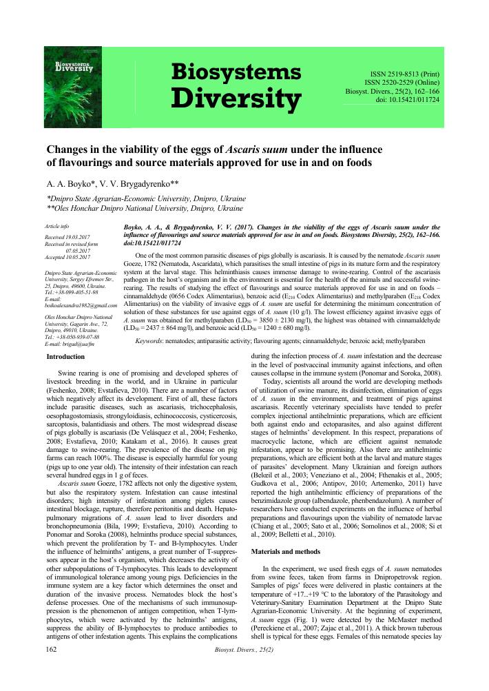 helminthiasis ascariasis trichocephalosis)
