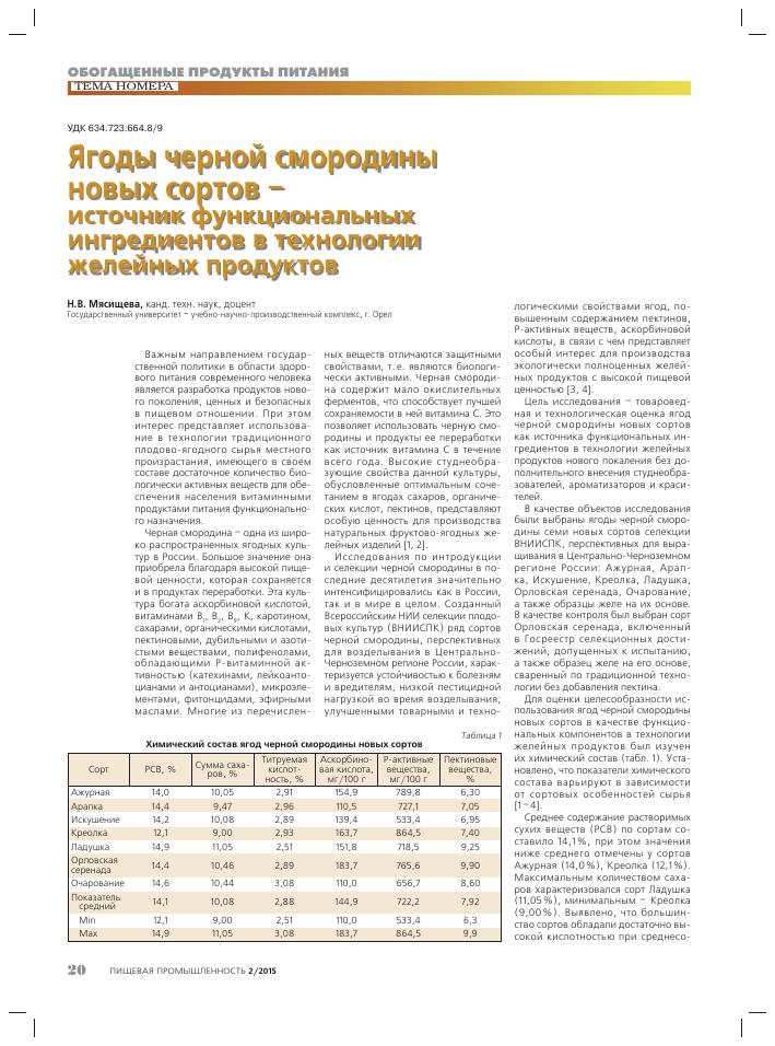 Производство черной смородины реферат 9976